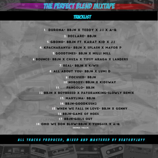 Beats By Jayy - The Perfect Blend - Back Cover