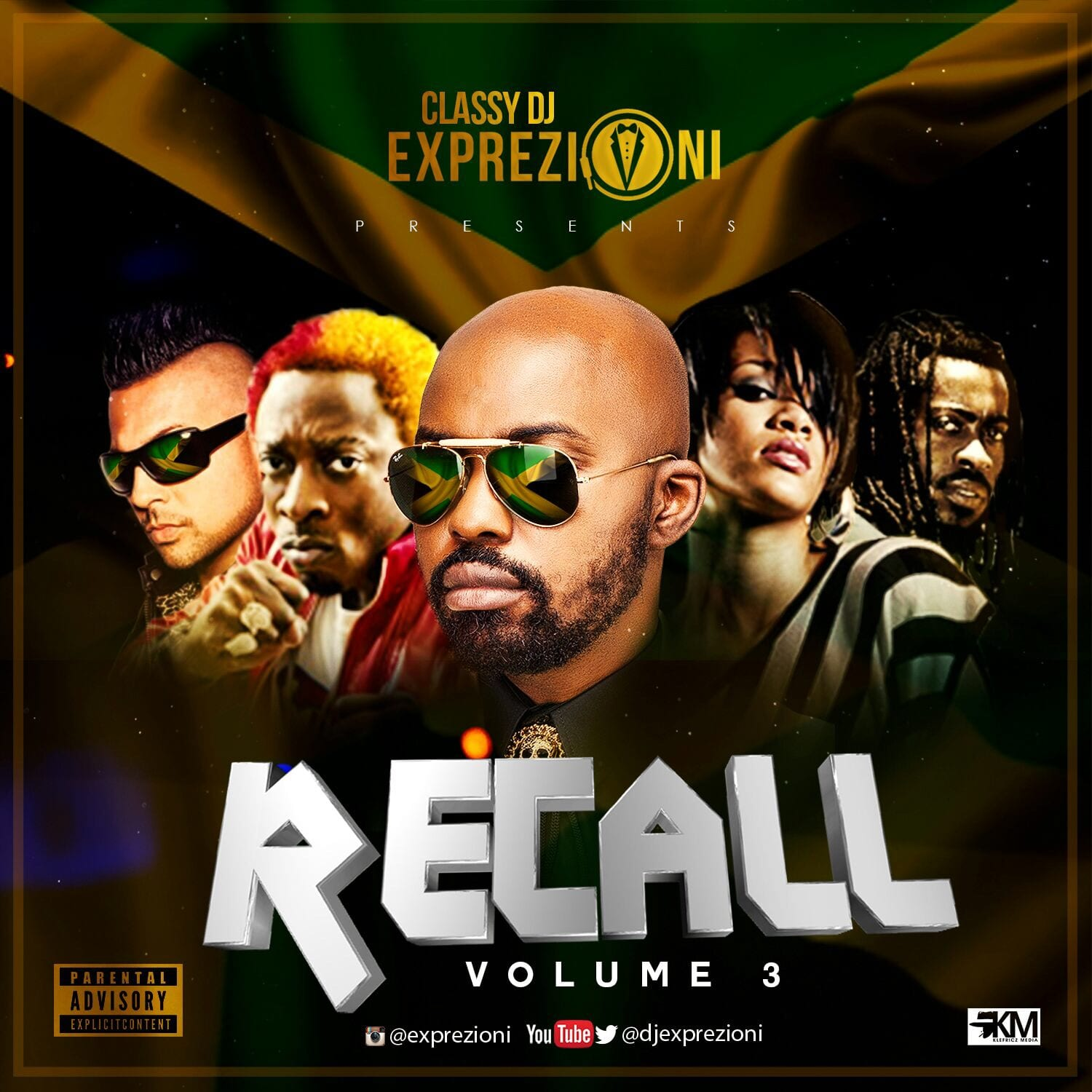 CLASSY DJ EXPREZIONI Presents RECALL Vol3 Dancehall Version Mixtape Enjoy OldSchool Joints In Case You Miss These Hardest Get ThemHere Now