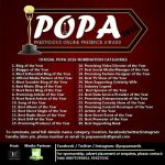"Mp3bullet Wins ""Best Music Blog Of The Year"" at  POPA Awards 2016 + Full Winners List."