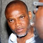 War? Nnamdi Kanu Pictured With A Sword at… (See Photos)