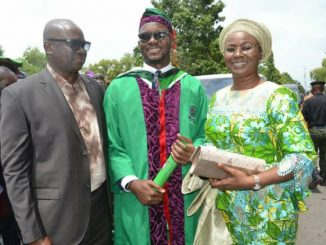 "Gov. Fayose's Son Graduates From Covenant University, Says; ""Children Of Public Office Holders Should Attend Schools In Nigeria"""