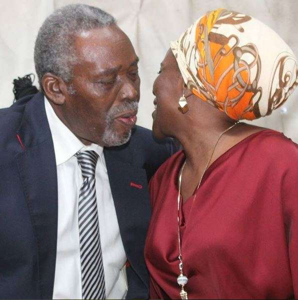 Olu Jacobs Celebrates His 75th Birthday As Joke Silva Celebrates Him