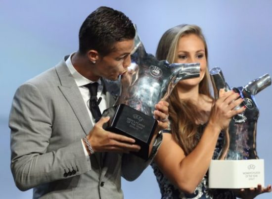 C. Ronaldo defeats his great rival Lionel Messi to emerge as UEFA Player of the season the 3rd time.