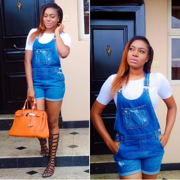 Chika Ike Showing Her Juicy Boobs As She Set For A Date With Her Lover