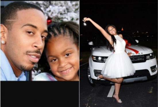 Rapper Ludacris Present his daughter Range Rover Evoque as her 16th birthday