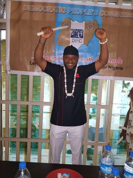 Yul Edochie Officially Picks DPC Nomination Form In Abuja