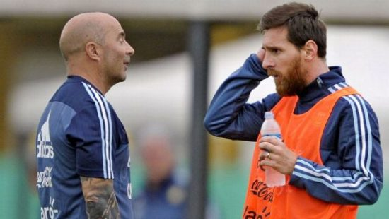 Argentina manager, Sampaoli denies rift with Messi