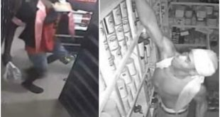 CCTV shows robbers who broke into a supermarket in Uyo
