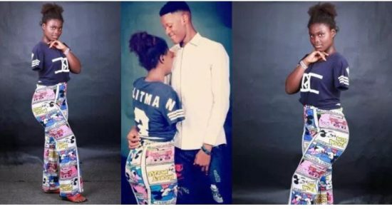 Photos of Young Nigerian Guy with His Handicapped Girlfriend