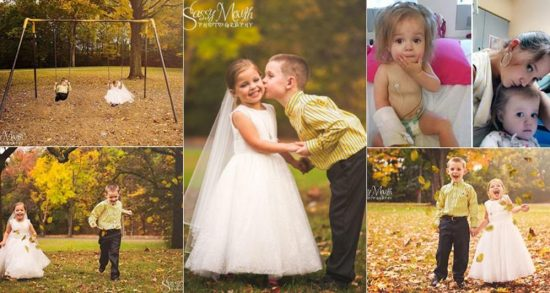 5yrs old girl weds her Bestfriend before her 4th Heart Surgery, See Photos