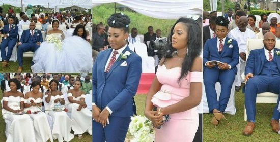 Wow! Lady steals the show as she Best her brother during his wedding in Akwa Ibom, See Photos