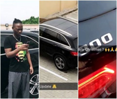 Dammy Krane flaunts his new  GLC300 Benz, See Photos
