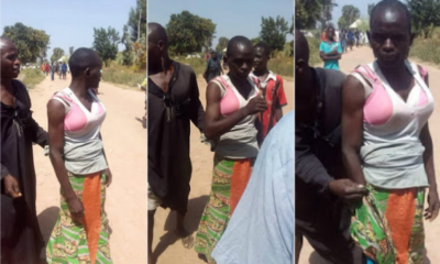 Man who wears 6 Bras, 3 pants to disguised as a woman caught and paraded in Minna