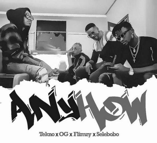 Download Tekno x OG x Flimzy x Selebobo Anyhow Mp3 Download