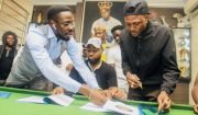 Omo Shepeteri! Davido signs Idowest to DMW.