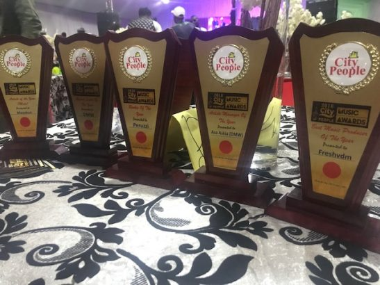 Davido & his DMW Crew Win Big At The 2018 City People Music Awards
