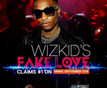 Wizkid's Fake Love claims #1 on MMMC September 2018.