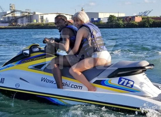 offset and cardi b ride on jet ski