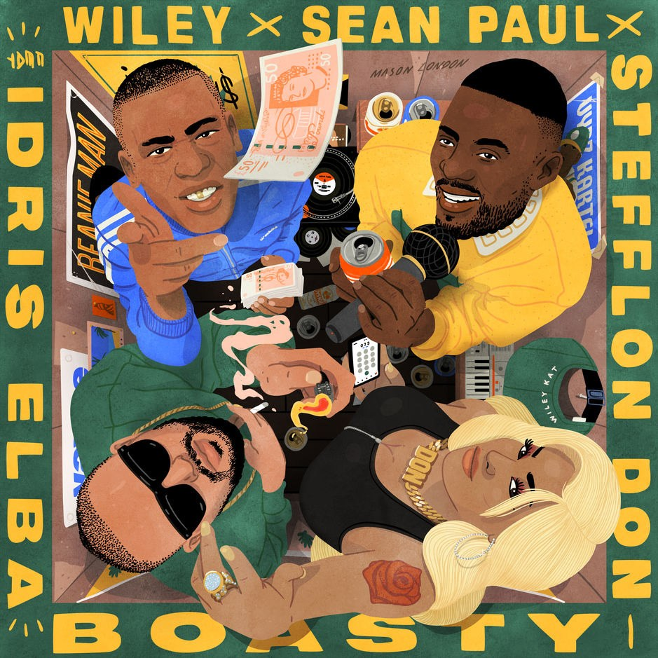 Wiley, Stefflon Don, Sean Paul, and Idris Elba Boasty Mp3 Download