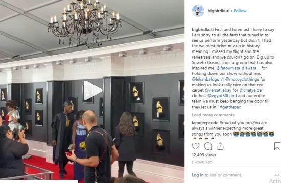 Seun Kuti Reveals Why Didn't Perform at 2019 Grammy Awards