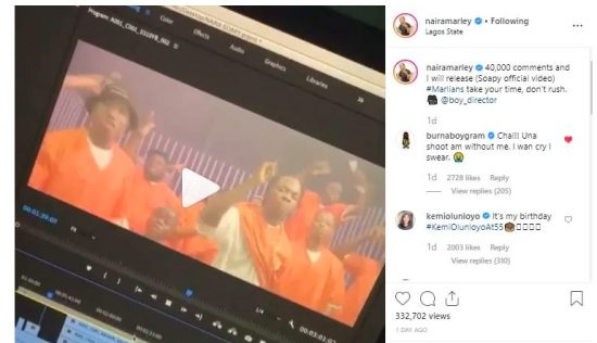 Burna Boy Comment on Naira Marley Post