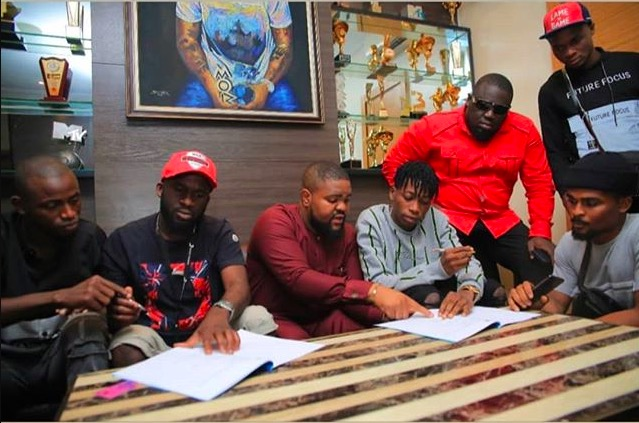 Davido signs Lil frosh to DMW.