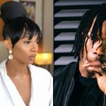Naira Marley causes an uproar at Toke Makinwa's party.