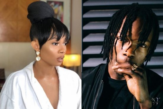 Naira Marley causes an uproar at Toke Makinwa's party