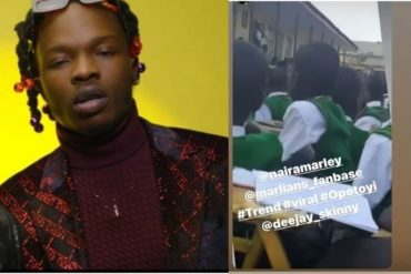 Watch As High school Students Sing Naira Marley's Opotoyi During Assembly