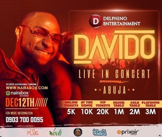 Davido Set To Shut Down Abuja In December Concert