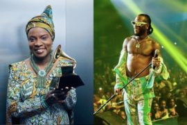 Angelique Kidjo Dedicates her Grammy to Burna Boy.