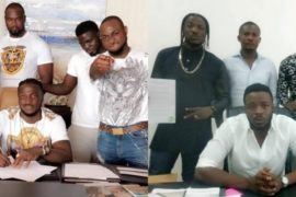 GoldenBoy Ent. calls out Davido over fake signing of Peruzzi.