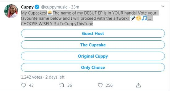 DJ-Cuppy-in-Last-Stage-of-Selecting-EP-Title-Ask-fans-to-Vote