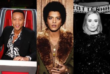 John Legend,Bruno Mars and Adele