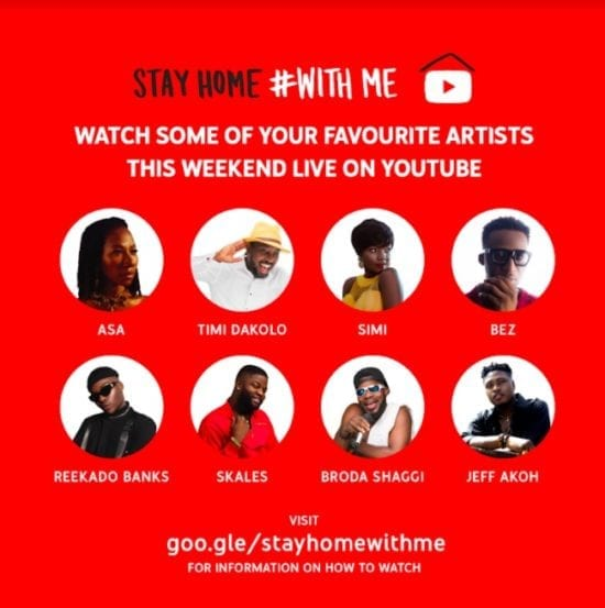YouTube launches online music Festival Stay Home…#With Me
