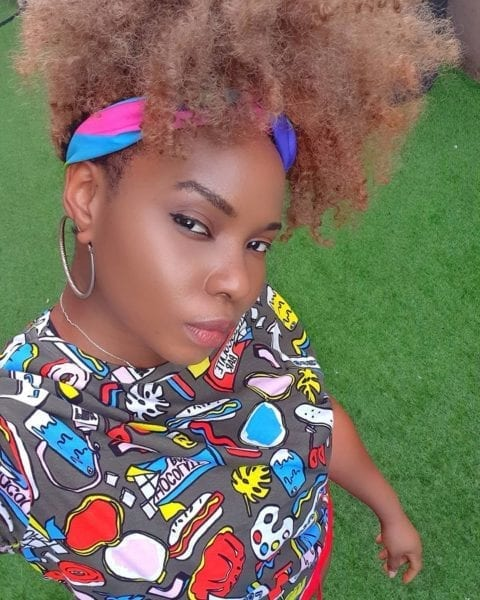 Yemi Alade Shares 2018 Pics Where She Used Nose Mask For Fashion