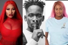 DJ Cuppy Reacts as Mr Eazi Drops Snippet of Song With Nicki Minaj