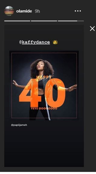 Olamide Celebrates Kaffy on Her 40th Birthday