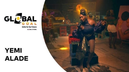 """Yemi Alade performs """"Shekere"""" during Global Citizen Concert."""