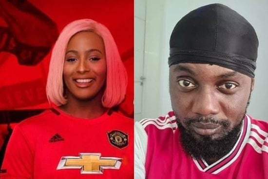 Ay Shades DJ Cuppy After She Dumped Arsenal to Support Manchester United