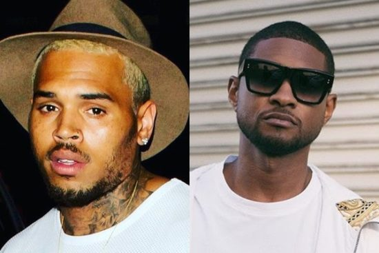 Chris Brown reacts as fans call for a Verzuz battle between him and Usher