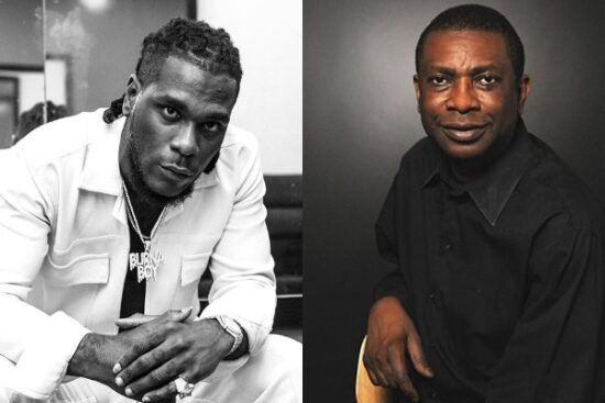 Burna Boy reacts to a throwback tweet of him looking for Senegalese singer Youssou N'dour