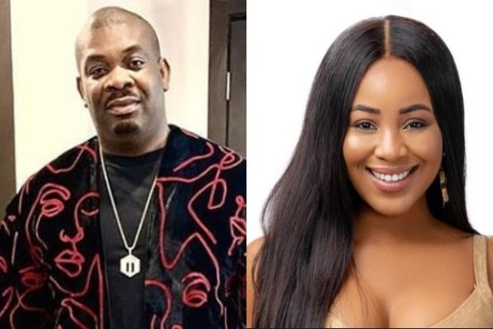Don Jazzy has come to the defense of the 2020 BBnaija housemate, Erica after she was slut-shamed for having an intimate session with fellow housemate, Kiddwaya.