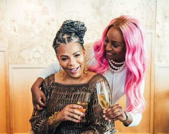 DJ Cuppy takes her mom for a ride in her new Ferrari