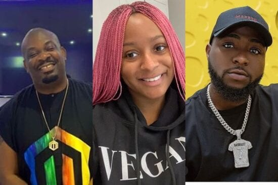 Davido, Don Jazzy, others reacts to DJ Cuppy and her sisters' new cars