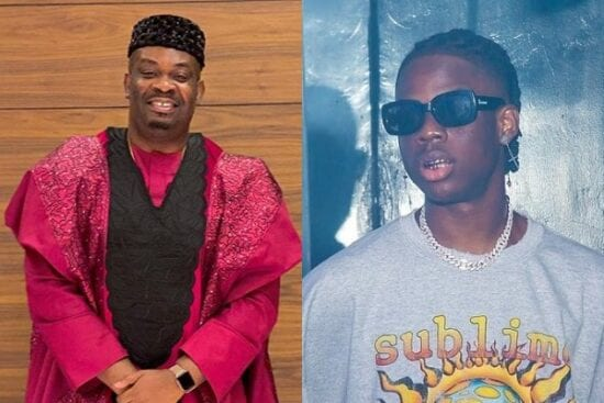 Don Jazzy reacts as Fan calls on him to change Rema's Password