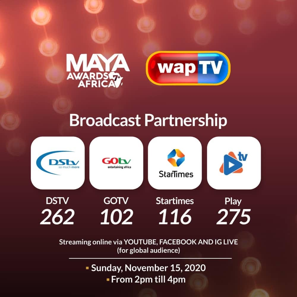 Maya Awards Africa secures Broadcast Partnership with Wap TV.