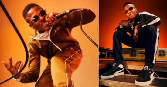 Wizkid strikes new deal with Puma as he becomes their new face