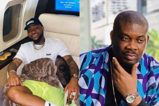 Davido Reacts As Don Jazzy Requests For iPhone 12 Pro Max from him.