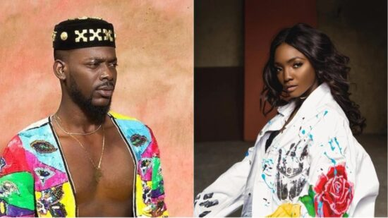 Simi reacts as her husband, Adekunle Gold gets his first MOBO Nomination